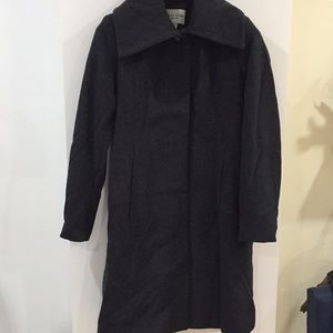 Cole Haan wool blend winter coat grey gray 4